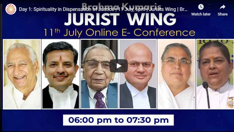 LIVE 11-07-2020, 6.00pm,E-Conference | Spirituality in Dispensation of Justice | Jurists Wing